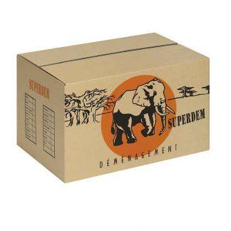 Caisse carton double cannelure 550 x 350 x 350 mm par 10